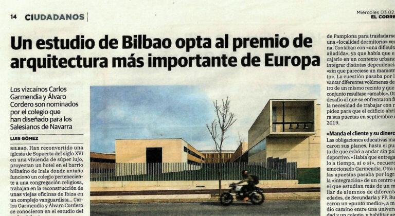 Un estudio de Bilbao opta al premio arquitectura más importante de Europa