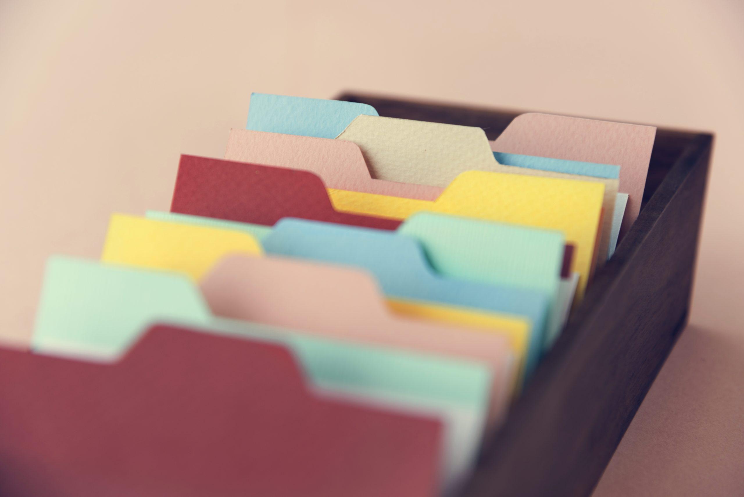 archivos de colores